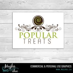 Popular Treats Cake Pops Logo Design Want a logo design for your company? Contact me! www.mujka.ca