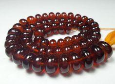 "142.8 Carat Natural Hessonite Garnet 5.5-7.0 MM Smooth Rondelle Beads 14"" Strand #Unbranded"