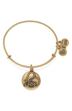 Alex and Ani 'Love' Expandable Wire Bangle available at #Nordstrom
