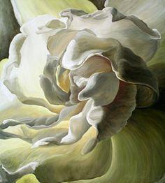 The artist stands beside a large flower painting Acrylic Flowers, Watercolor Flowers, Watercolor Art, Watercolor Tutorials, Magnolia Paint, Flower Center, Green Art, Art Themes, Art World
