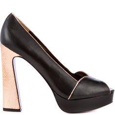 Adele heels Black Leather brand heels Paris Hilton