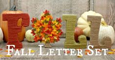 A Fall Letter Set from The Wood Connection is and easy way to add a little Fall decor to your home.