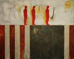 """""""NO TITLE #2,"""" red and green figurative painting by artist Riccardo Perrone   Discover more new art at Saatchi Art: http://www.saatchiart.com/art-collection/Painting-Photography-Sculpture/New-This-Week-6-29-2015/153961/107606/view #red #green"""