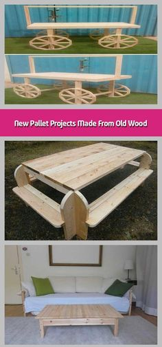 Here come the new pallet projects made from old wood which are amazingly adorable. These new pallet projects aimto boost the elegance of your home. Furniture Board, Trendy Furniture, Sofa Furniture, Pallet Furniture, Furniture Ideas, Pallet Wall Decor, Pallet Bench, Old Wood, Pallet Projects