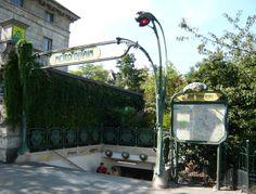 Paris, Métropolitain, Entrée de la station Denfert-Rochereau, arch. Hector Guimard