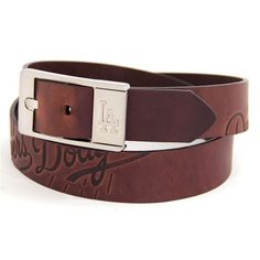 Los Angeles Dodgers Brandish Leather Belt - Brown - $34.99