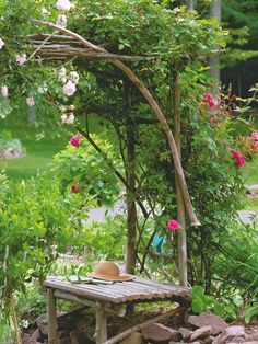 Genial Arbors Made Out Of Twigs | Especially Like This Hardware Cloth Garden  Basket Project   Perfect .