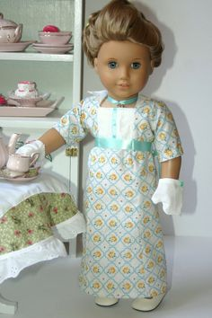 Regency Tea Dress to fit your 18 inch american by MiniMeDollyDivas