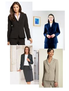 Suit, shoe, and accessory advice - http://www.theinterviewcode.com/what-to-wear-women/