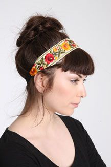 Lovely embroidered headband