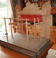 A Large Antique 19th Century German Wooden Toy Theatre | eBay