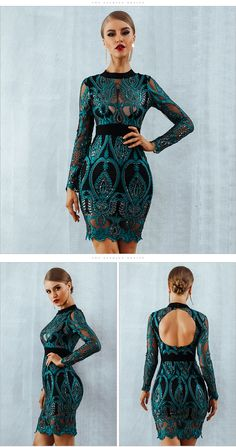 ADYCE Celebrity Party Sequin Dress Women 2018 New Long Sleeve Backless Sexy  Mesh Hollow Out Mini Luxurious Club Dresses Vestidos - Lady Shop - Store for  the ... be374f412ed3