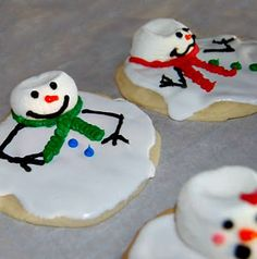 Frozen Melted Snowman Cookies