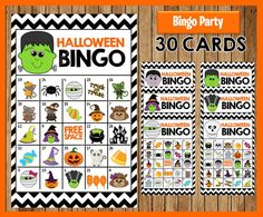 Halloween Bingo Game 30 different Cards Printable Party | Etsy Halloween Bingo, Halloween Activities For Kids, Halloween Kids, Halloween Snacks, Bingo Party, Party Games, Printable Cards, Party Printables, Bingo Chips