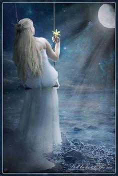 سأنصب لك فوق النجم ارجوحتي وأعلق على القمر نور وجهك  واتغنى برسمك المجتبي  لاولد بك منذ صبري الاقدم فيا مقدمي دع شمسك تغدق وهاجهها  وروحك لقلبي تنشي سلوى فرحتي