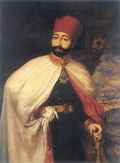 Mahmut, Gavur Sultan 1808 - Portrait of Ottoman Sultan Mahmud II after his clothing reforms Aladdin Costume, Exotic Art, Mughal Empire, Cylinder Shape, Ottoman Empire, Central Asia, North Africa, Portrait, Renaissance