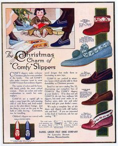 'Comfy' Slippers ad, 1914 by Gatochy, via Flickr