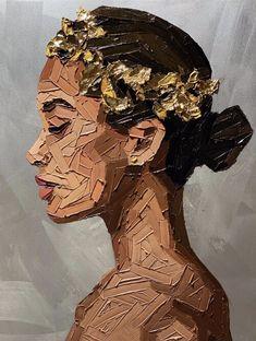 PAINTINGS — Elena Gual Art Sketches, Art Drawings, Oil Pastel Art, Acrylic Art, Art Sketchbook, Portrait Art, African Art, Painting & Drawing, Drawing Tips