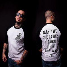 Light the Way - Raglan Tee sleeve) Tattoo Photography, Raglan Tee, Alternative Girls, Satan, Black Metal, Ship, Models, Tattoos, Tees