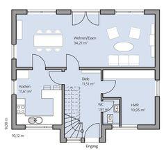 Haus Paulik – Erdgeschoss Planer, My Dream, Villa, Floor Plans, Architecture, Dream Homes, Houses, Ground Floor, Dream Home Plans