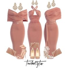 A fashion look from November 2016 featuring Christian Louboutin pumps, Gianvito Rossi sandals and Chanel handbags. Browse and shop related looks. Elegant Dresses, Sexy Dresses, Beautiful Dresses, Evening Dresses, Fashion Dresses, Classy Dress, Classy Outfits, Stylish Outfits, Mode Outfits