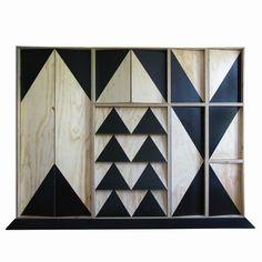 studio, paint furniture, pattern, boxer, cabinet doors, cabinet storage, triangl, design, storage units