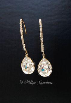 Wedding Accessories Bridal Chandelier Swarovski by MikiyeCreations, $42.00