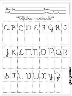 Atividades de linguagem para educação infantil Teaching Kids, Kids Learning, Pre K Activities, Kids Class, Kids Playing, Alphabet, Homeschool, Lettering, Writing