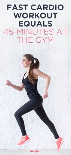 Fast Cardio Workout Equals at the Gym Work smarter, not harder! Forget spending hours on the treadmill. Check out this fast HIIT cardio challenge that will give you a complete workout in just 10 minutes. Hiit, Cardio Workouts, Cardio Circuits, Short Workouts, Workout Exercises, Fat Workout, Workout Plans, Weight Loss Tips, How To Lose Weight Fast