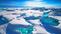 Stunning Turquoise Ice on Ancient Lake - weather.com