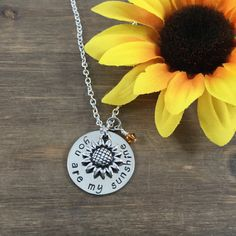 You Are My Sunshine Necklace Hand stamped by SunflowerShadows