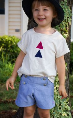 Oliver & S sailboat remix: small + friendly: shorts on the line: girl like the sea