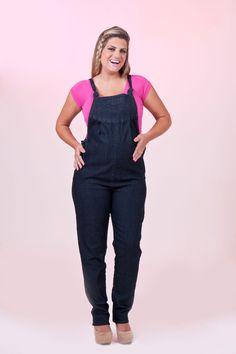 Macacão Jeans Skinny Com Elastano | Bebê a Bordo Moda Gestante