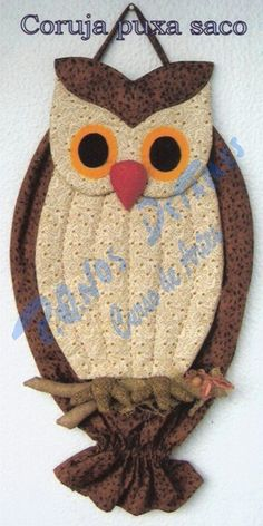 modelos e moldes de puxa saco - Pesquisa Google Owl Patterns, Applique Patterns, Sewing Crafts, Sewing Projects, Sunflower Drawing, Recycled Plastic Bags, Owl Quilts, Plastic Bag Holders, Types Of Craft