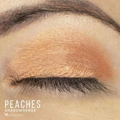 Peaches ShadowSense by SeneGence is a Limited Edition eyeshadow part of the Posh Pastels Collection.  Get the perfect soft pastel peachy orange shadow for your eyes.  #peach #eyeshadow #senegence