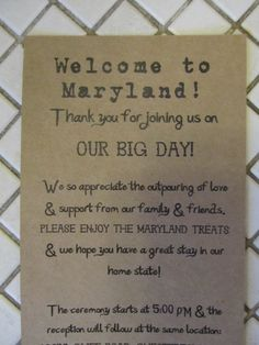 Welcome Note for Out of Town Wedding Guests by AlRoad on Etsy, $1.50