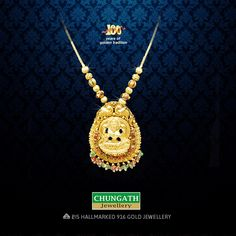 A traditional design Divine #Necklace from Chungath Jewellery. Your trusted jeweler with the best affordable making charges and quality. Visit : www.chungathjewellery.com