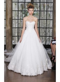A Line Strapless Natural Princess Lace-up Cheap Wedding Dresses Online