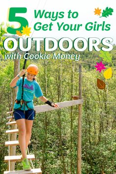 5 Ways to Get Your Girl Scouts Outdoors with Cookie Money | Girl Scout Cookies provide girls with unforgettable experiences, making them a whole lot more than just a tasty treat. Opt for Cookie Reward Cards and your girls can fund their next outdoor adventure! via The Trailhead by Girl Scouts of Northern California