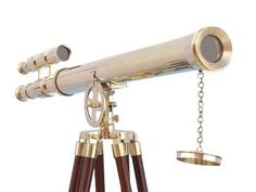 Tripod Floor Standing Brass Griffith Astro Double Barrel Telescope By Nauticalmart Overall dimensions: H x W x L Pictures does not do this item justice - looks much better in person All items made by us - No middleman - sa.