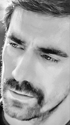 Jaw Line, Turkish Delight, Turkish Beauty, Turkish Actors, Beautiful Eyes, Real Life, Hair Beauty, Black And White, Netflix