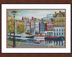 Bead embroidery cross stitch kits ribbon by needlepointkit on Etsy Beaded Cross Stitch, Counted Cross Stitch Kits, Modern Cross Stitch, Cross Stitch Embroidery, Diy Embroidery Kit, Ribbon Embroidery, Embroidery Patterns, Needlepoint Kits, Diy Kits