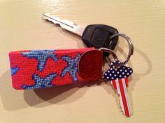 Smathers & Branson key fob & patriotic house key <3