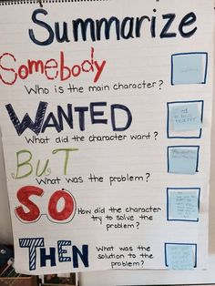 Interactive summarize anchor chart