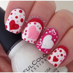 valentine by b_jessica_3 #nail #nails #nailart Make sure to check out http://www.thepolishobsessed.com for nail art, tutorials, giveaways and more!