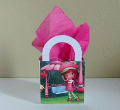 10 Strawberry Shortcake Favor Boxes by CutePartySupplies on Etsy