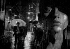 Collage #retouch #blackandwhite #city #dark #shadows #rain #night by retouch_collage