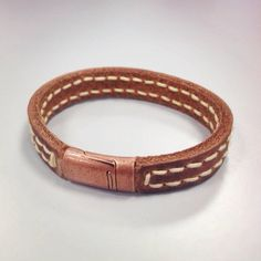 Leather Bracelet for the Refined by AnchorLeatherCo on Etsy, $22.00