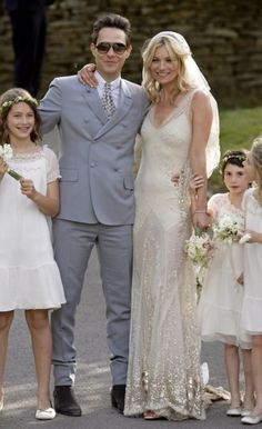Vogue Wedding - Iconic wedding dresses: Kate Moss. Click on the image to see more.
