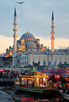 the New Mosque is an Ottoman imperial mosque located in the Eminönü district of Istanbul, Turkey